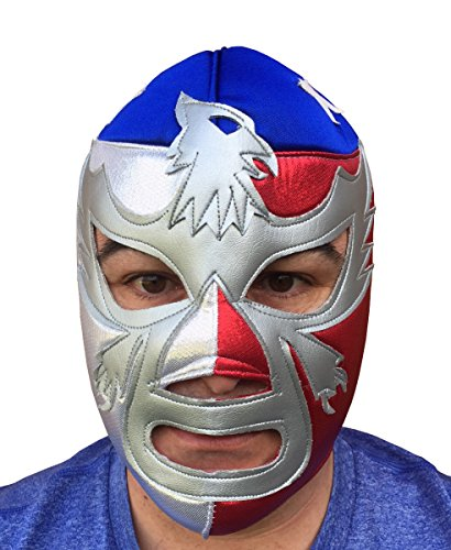 PATRIOT AMERICA Adult Lucha Libre Wrestling Mask (pro-fit) Costume Wear (Pro Wrestling Costumes)