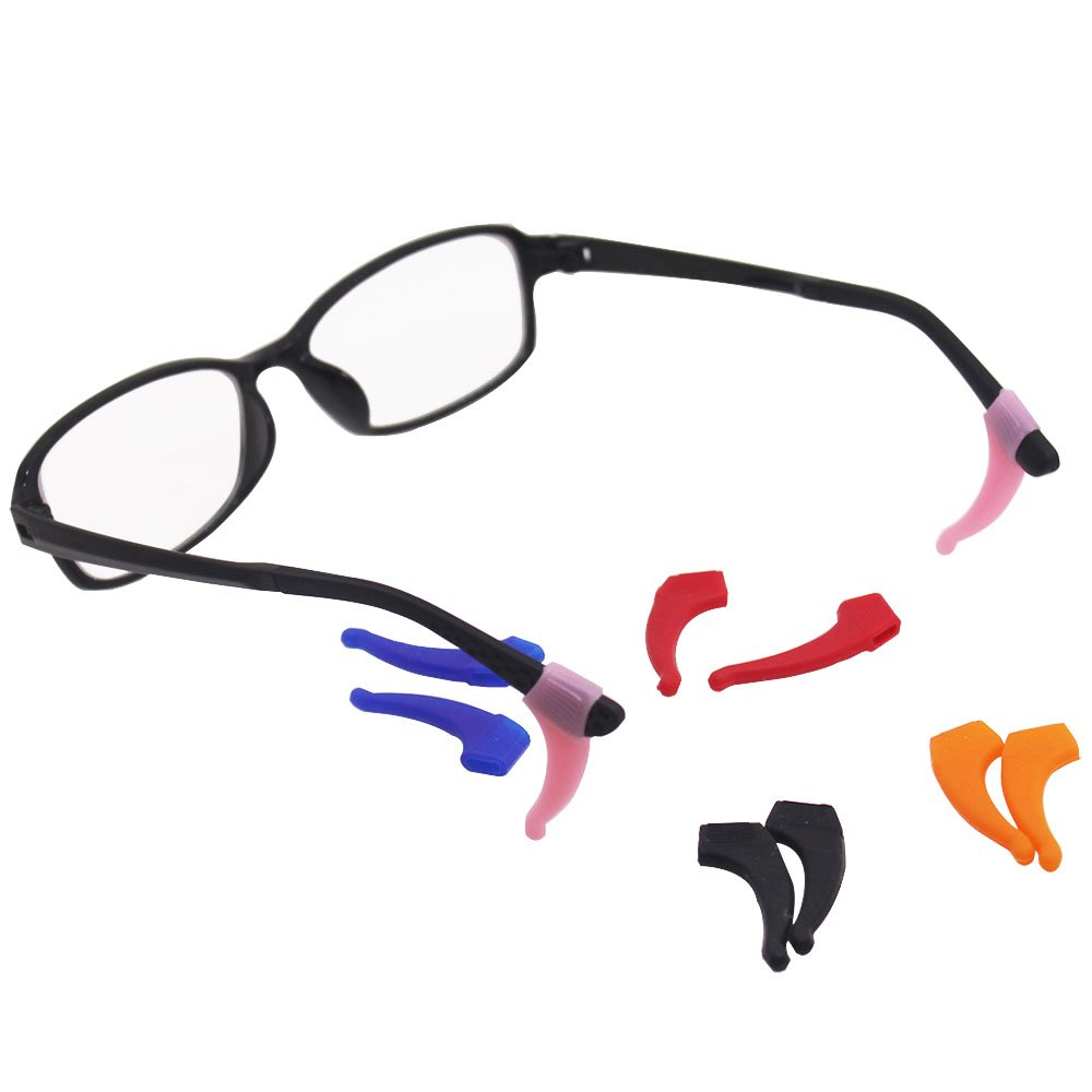 157a549c5ad SENHAI 6 Pack Anti-slip Silicone Glasses Straps with 6 Pairs Ear Grip  Hooks