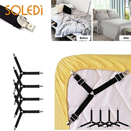 SYH01 4Pcs/Set Adjustable Clips Mattress Cushion Bed Sheet