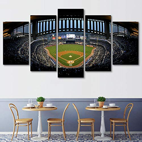 WLHWLH Yankee Stadium Canvas Painting 5 Piece Canvas Painting Print Poster Wall Art Modern Painting Wall Pictures-Frameless