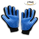 QHWLKJ Pet Grooming Glove, Hair Removal Mitts, Horse Glove, Cat Mitts Dog Grooming Brushes Gloves Works as Grooming, Bathing, Shedding, Combing and Massage Gloves for Dogs/Cats/Horse