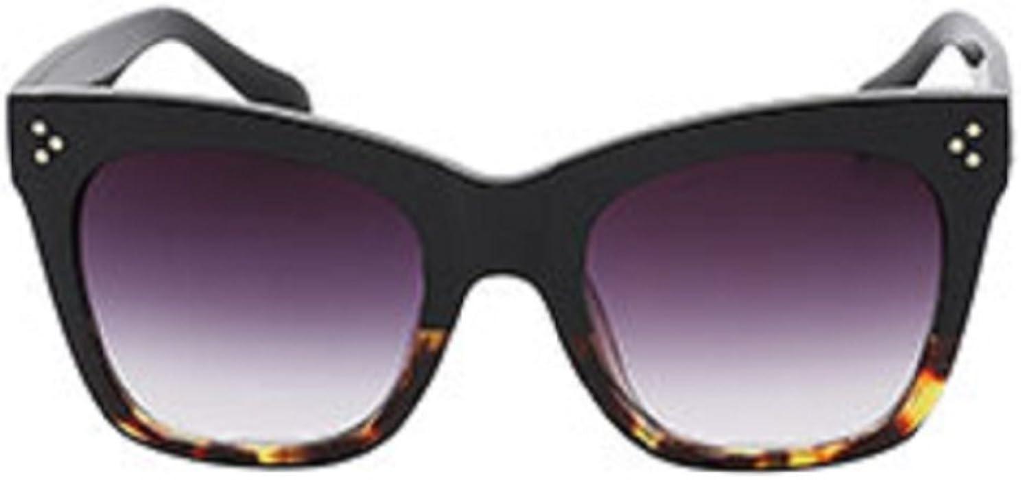 Oversized Women Celebrity Fashion Sunglasses, Bold Flat Lens - UV400 Protection