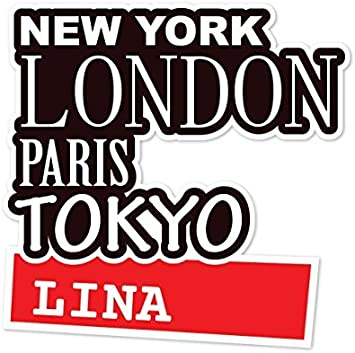 Ortsschild Design Farbe LINA JOllify Aufkleber