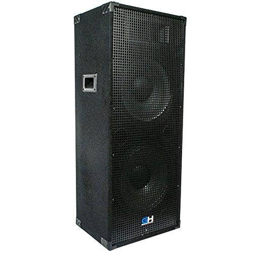 Grindhouse Speakers - GH215L - Passive Dual 15 Inch 2-Way PA/DJ Loudspeaker Cabinet  - 1450 Watt Full Range PA/DJ Band Live Sound Speaker by Grindhouse Speakers