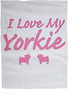 product image for I Love My Yorkie Night Shirt White and Pink