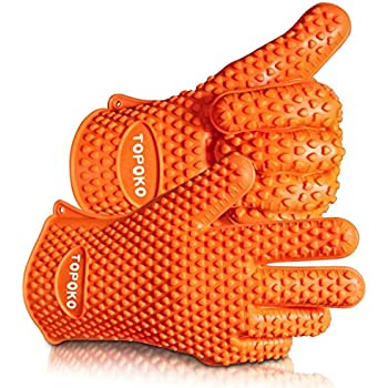 2017 Hot Sale BBQ Grilling Gloves Oven Mitts Gloves for Cooking Baking Barbecue Potholder