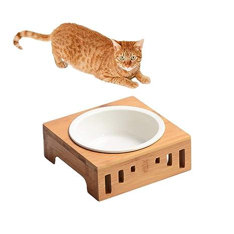 SAUWERAY Mesa de Comedor de Madera Maciza para Mascotas ...