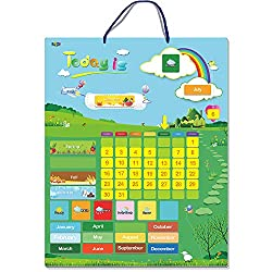 Magnetic Learning Calendar with Weather Station 55 PCS (15 X 12 Wall Mountings Ready)