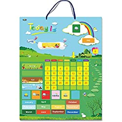 "Magnetic Learning Calendar with Weather Station 55 PCS (15"" X 12"" Wall Mountings Ready)"