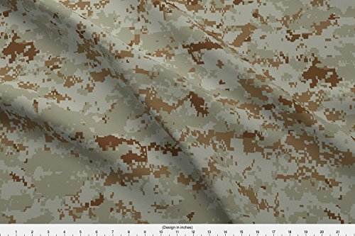 Spoonflower Marine Fabric - Marine Marpat Digital Desert Camo - by Ricraynor Printed on Fleece Fabric by The Yard