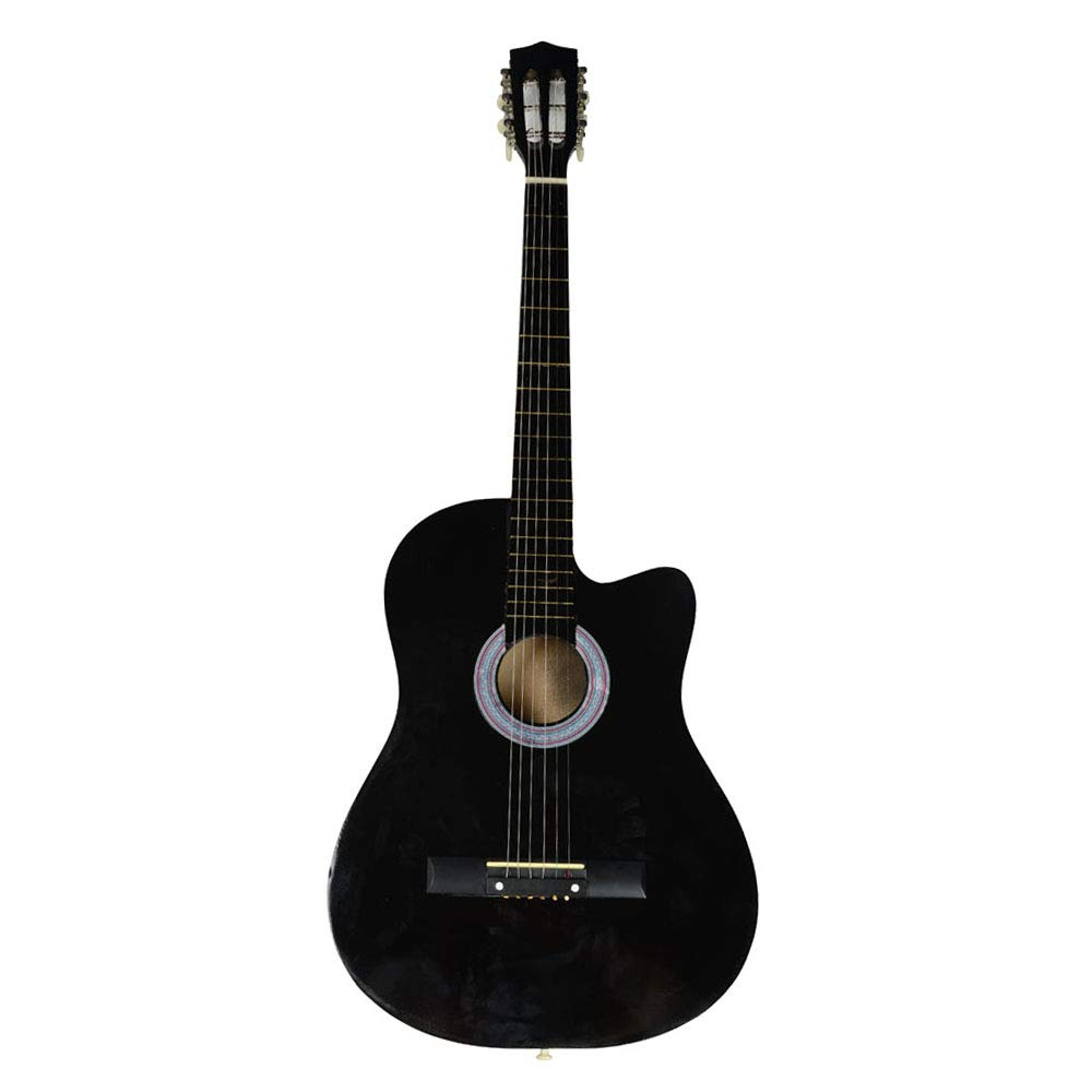 sodivi 38 Inch Cutaway Acoustic Guitars with Guitar Plectrum Black (Included 1 Guitar Plectrum and 1 Guitar String) by sodivi