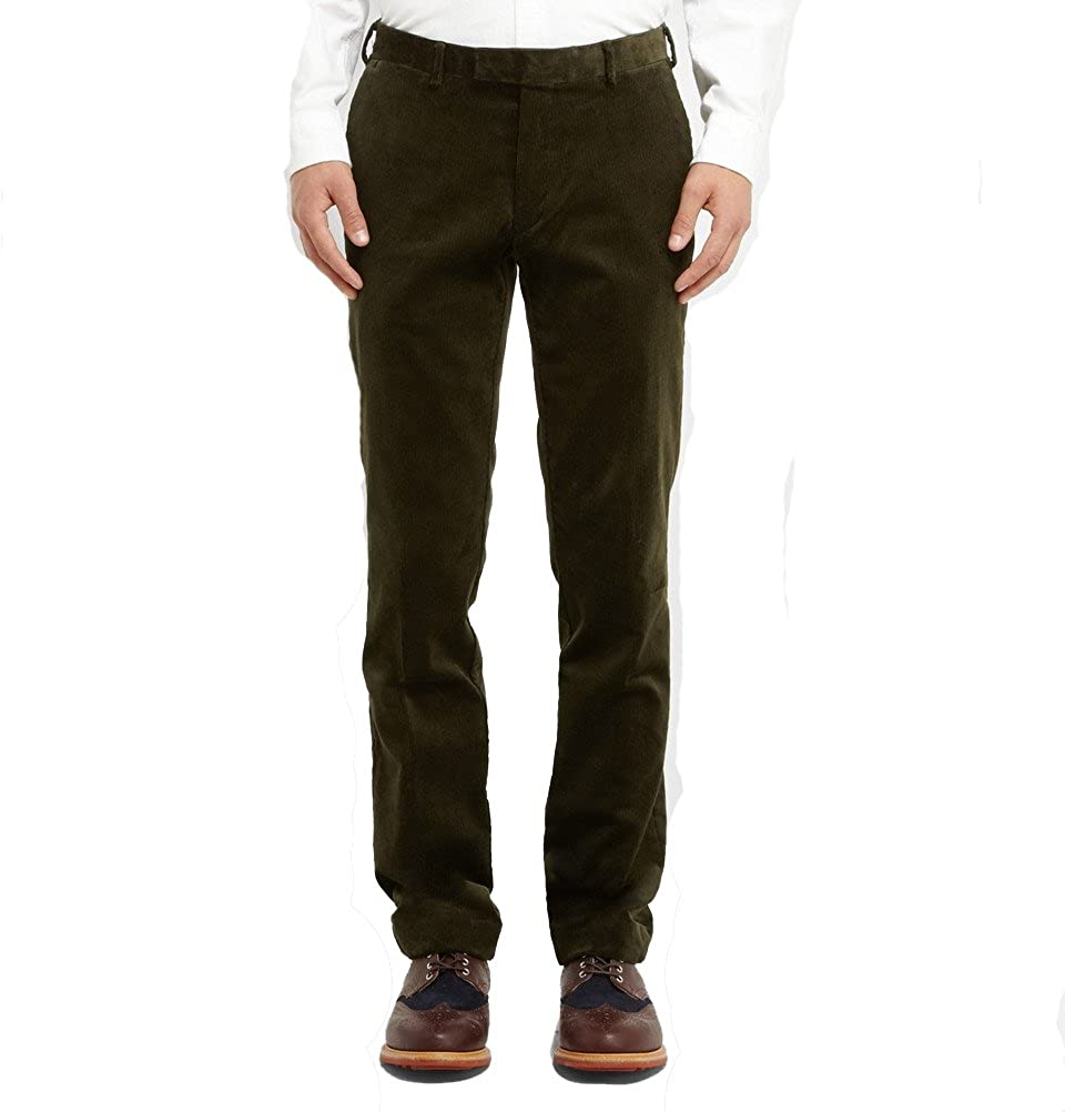 6eecb5786ec63c Polo Ralph Lauren Hudson Slim-Fit Corduroy Trousers in Green 40x32 at  Amazon Men's Clothing store: