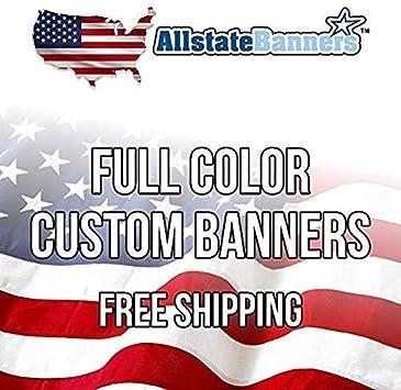 Free Design Included 4/' x 15/' Custom Vinyl Banner 13oz Full Color