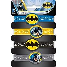 Batman Rubber Bracelet Party Favors, 4ct