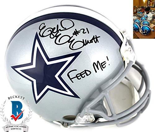 Ezekiel Elliott Autographed/Signed Dallas Cowboys Current Authentic Helmet with