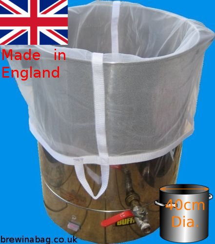Home Brew BIAB mash bag for brew in a bag up to 40cm diameter pot