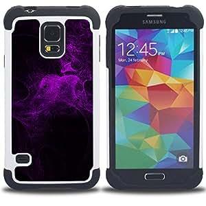 - purple light spider web night bug nature/ H??brido 3in1 Deluxe Impreso duro Soft Alto Impacto caja de la armadura Defender - SHIMIN CAO - For Samsung Galaxy S5 I9600 G9009 G9008V