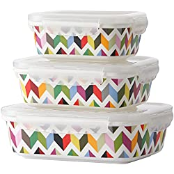 French Bull - Food Storage Container with Air Tight Lid - Porcelain Storage Container Set - Ziggy