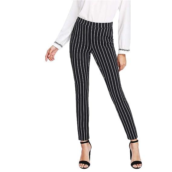 Pantalones Leggings para Mujer Otoño Invierno 2018 Moda PAOLIAN Casual Pantalones Uniformes de Trabajo Skinny Cintura Alta Fiesta Pantalones de Pinza Vestir ...
