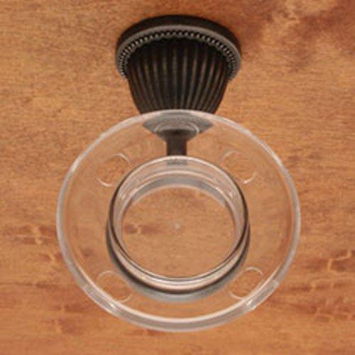 Beaded Base Tumbler Holder - BE Series Beaded Bell Base Tumbler Holder Finish: Distressed Nickel