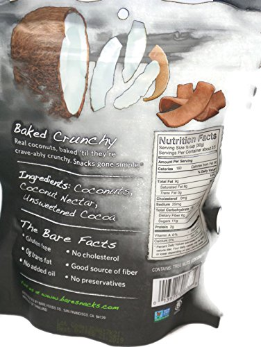 Variety Pack - Bare Fruit Chips - Toasted Coconut (3.3 oz), Chocolate Coconut (2.8 oz), Simply Banana (2.7 oz), Cinnamon Banana (2.7 oz) by General (Image #2)'
