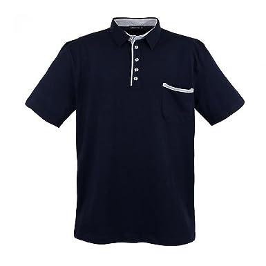 Lavecchia Piqué Polo Shirt - Pour Homme - Manches Longues - Grande Taille - Rouge: 3XL TAG8g5jiPp