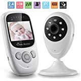 """Video Baby Monitor, GooDee 2.4"""" TFT LCD Baby Monitor with Night Vision Two-Way Talking and Temparature Monitoring (Lullabies Option)"""