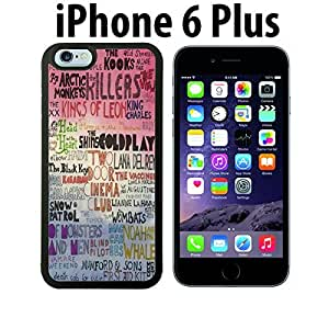 Colorful Indie Hipster Band Collage Custom made Case/Cover/skin FOR iPhone 6 Plus - Black - Rubber Case ( Ship From CA) by runtopwell