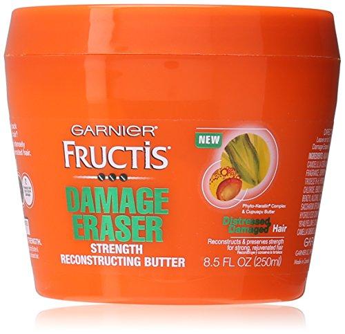 Garnier de peau et des cheveux soins Fructis dommages Eraser force Reconstructing masque capillaire beurre pour cheveux en détresse et abîmés, 8,5 onces fluides