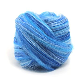 World Of Wool Aquila Dyed Merino Silk Wool Top Roving Blend