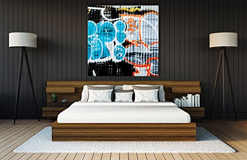 Giant Art GI88803K2 Graffiti Study 5 Huge Contemporary Abstract Giclee Canvas Print, 54 x 54'' by Giant Art