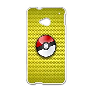 High Quality Specially Designed Skin cover Case Pokemon HTC One M7 Cell Phone Case White