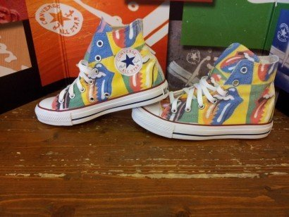 172d5cd0521811 Converse All Star shoes customized (handicraft product) Rolling Stones -  TG39  Amazon.co.uk  Shoes   Bags