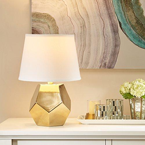 Capri Orange Modern Table Lamp , Contemporary Ceramic Desk Light , Dia 11
