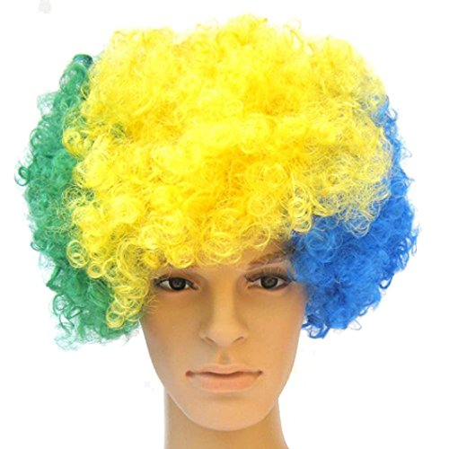 Adult Multi Color Mohawk Party Wig (Wig DZT1968® Hallowmas Masquerade Punk Mohawk Mohican Cockscomb Wig)