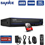 SANNCE 16 Channel AHD1080N 5-IN-1 DVR Home Security DVR Camera System with 1TB Surveillance Hard Drive, Easy Install and Remote Access, Email Alarm