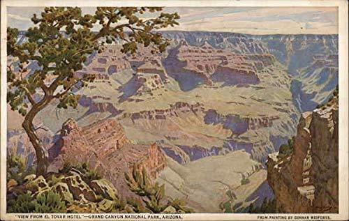View from El Tovar Hotel Grand Canyon National Park, Arizona Original Vintage Postcard from CardCow Vintage Postcards