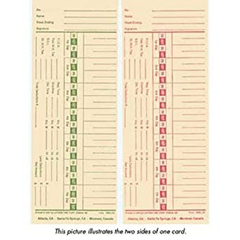 lathem 1900l 2 time cards double sided weekly or bi weekly - Bi Weekly Time Cards