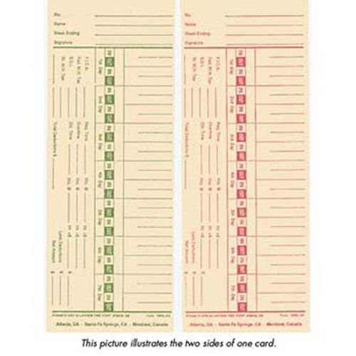 Lathem 1900L-2 Time Cards - Double Sided, Weekly or ()
