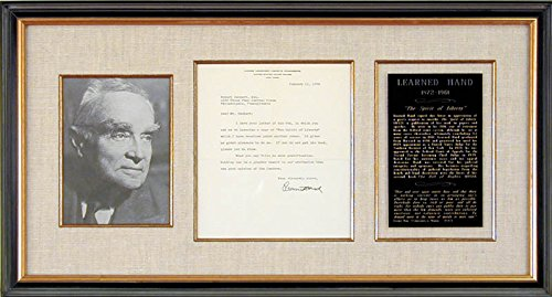 - Learned Hand - Typed Letter Signed 01/11/1956