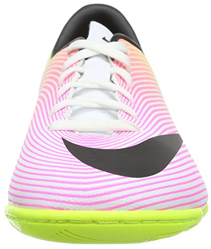 Nike Unisex-Kinder Jr Mercurial Victory V Ic Fußballschuhe Weiß (White/Black-Volt-Total Orange)