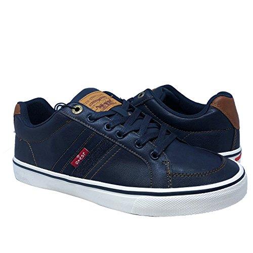 Levis Turner Nappa Sneakers Marine / Tan 518218-72u 9.5