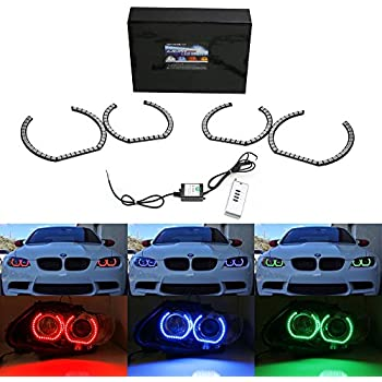 Amazon.com: iJDMTOY (4) DTM Style Horseshoe RGB Multi ...