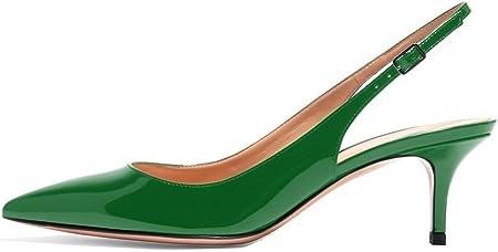 EDEFS Zapatos de Tacón para Mujer,Zapatos de tacón Medio,Tira de Tobillo 6.5cm