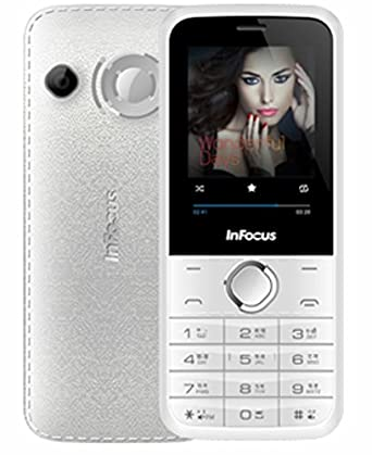 InFocus F125 BoomBox Dual SIM Mobile Phone with 2800mAh Battery and 2.4 inch screen  White  Basic Mobiles