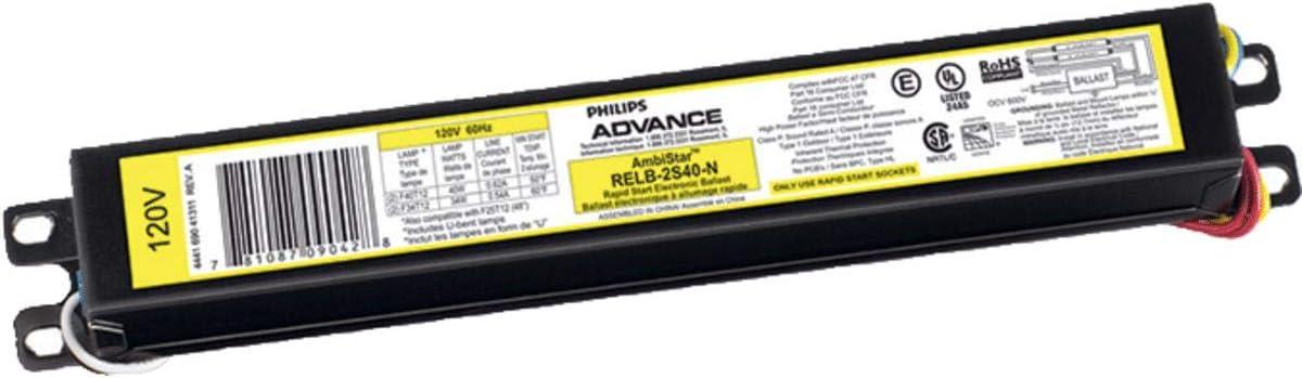 GE Lighting 72109 P//N GE296HO-MV-N-DIY Ballast for 1 or 2 F96T12HO Rapid Start