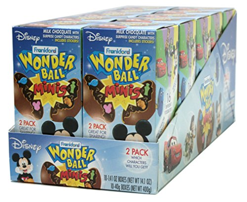 Frankford Candy Company Disney Wonder Ball Mini, Milk Chocolate, 1.41 Ounce (Pack of 10) (Balls Mini Chocolate)