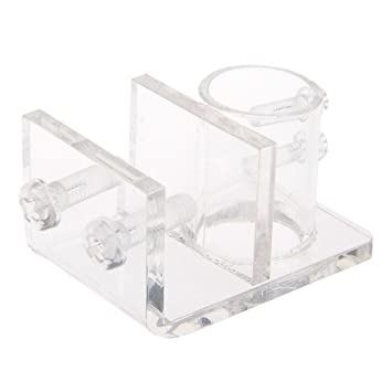 Acrílico Acuario Peces Tanque fijación Clip soporte de abrazadera de tubo transparente tubo de agua conveniente Durable: Amazon.es: Productos para mascotas