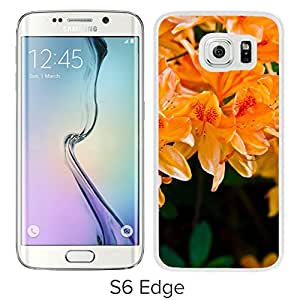 Light Orange Flowers (2) Durable High Quality Samsung Galaxy S6 Case