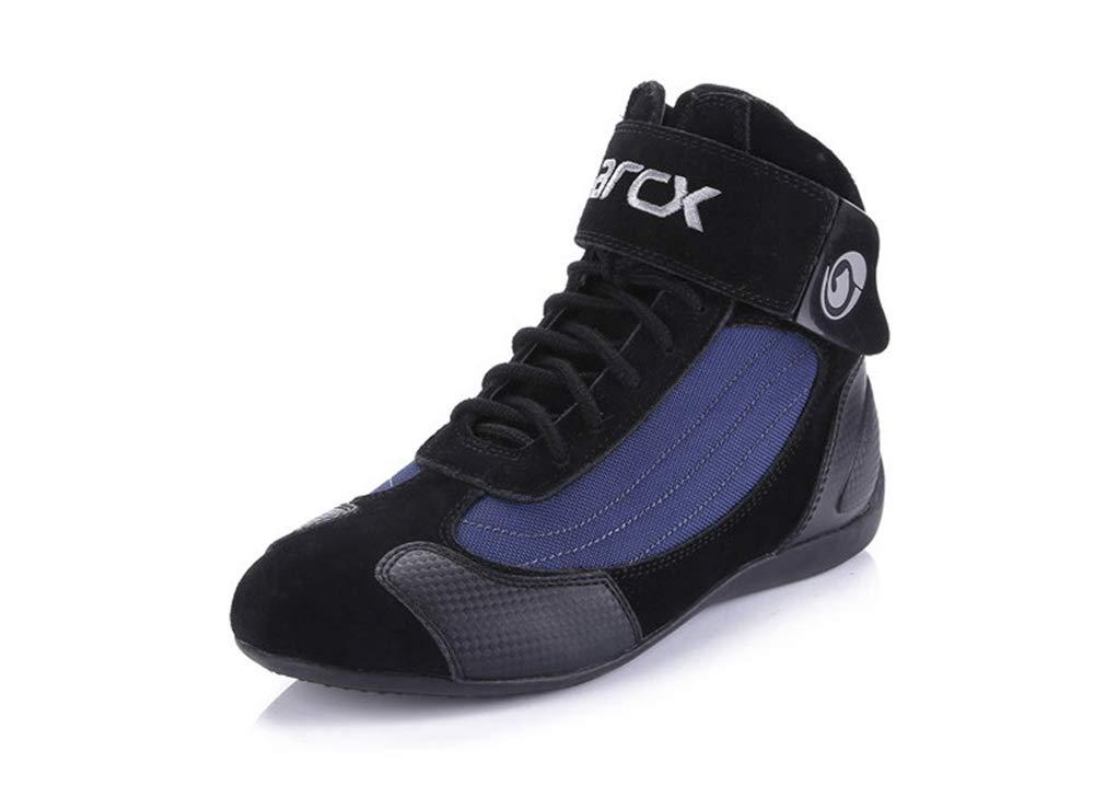オートバイの靴のブーツ 快適で通気性のある 夏に適しています 男性用 B07HRH5FHC blue EU37.5